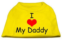 Ahi I Love My Daddy Screen Print Shirts Yellow Med (12)