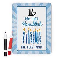 Monogram Online Hanukkah Countdown Custom Dry Erase Memo Board