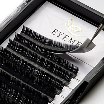 Flat Eyelash Extensions 0.15mm C Curl 8-14mm 3D Individual Ellipse Eyelashes Soft False Lashes Extension Professional Use by EYEMEI