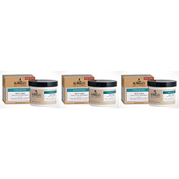 [VALUE PACK OF 3] DR. MIRACLE'S Strengthen HOT GRO HAIR & SCALP TREATMENT 4oz : Beauty
