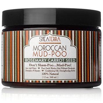 Shea Terra Shampoo Mud-Poo Rosemary Carrot Seed 12 oz.