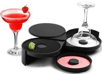 Yaekoo Bartender Tool Cocktail Margarita Glass Rimmer 3 Tier Sugar Salt Rim Lime