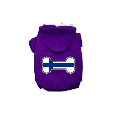 Mirage Pet Products Bone Shaped Finland Flag Screen Print Pet Hoodies Purple M (12)