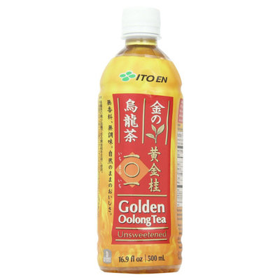 Ito En Unsweetened Golden Oolong Tea 16.9 oz Plastic Bottles - Pack of 12
