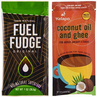Keto Fat Bombs Set - Fuel Fudge with Organic Grass Fed Ghee Butter, Coconut Oil, Cacao, Turmeric, Maca, Cinnamon, Honey + Ghee and Coconut Oil Packets