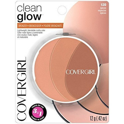 (Pack 3) Covergirl Clean Glow Bronzer, Spices 120 by COVERGIRL: Beauty