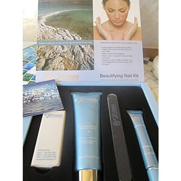 Dead Sea Premier Beautifying Nail Kit Milk and Honey - Body Lotion,Cuticle Oil,Nail File,Buffing Block