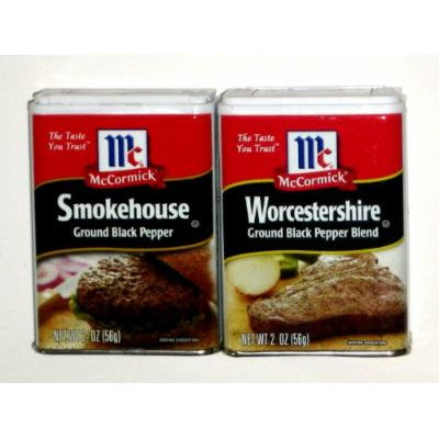 McCormick Worcestershire Pepper Blend & Smokehouse Pepper - 2 Oz (2-Pack)