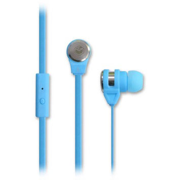 MQbix AeroFones Platinum High-Performance In-Ear Earphones with Tangle-Free Flat Cable and Microphone