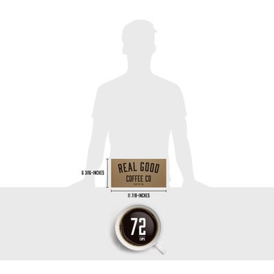 Real Good Coffee Co Recyclable K Cups, Donut Shop Medium Roast, For Keurig K-Cup Brewers, 72 Single Serve Coffee Pods [Donut Shop Medium]