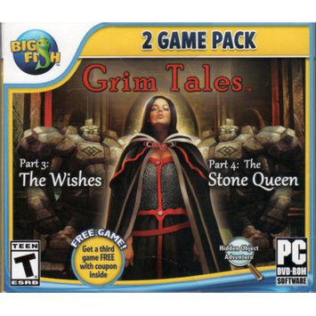Big Fish Games GRIM TALES Part 3: THE WISHES + Part 4: THE STONE QUEEN Hidden Object + Bonus Game