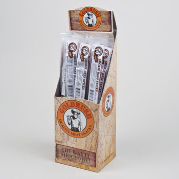 Regent Products 71888 1.25 oz Beef Sticks Hickory Display Box 1 Year Shelf Life - Case of 48