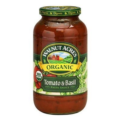 Walnut Acres Tomato Basil Pasta Sauce 25.5 Oz (Pack of 6) - Pack Of 6