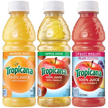 The Gatorade Co. Tropicana 100% Juice 3-flavor Classic Variety Pack, 10 Fl Oz, 24 Count