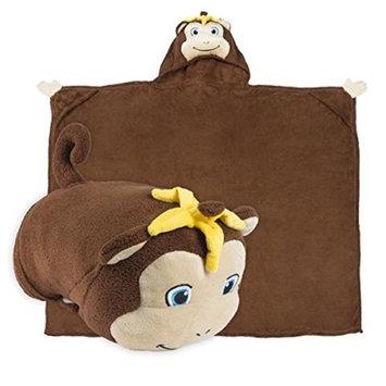 Comfy Critters CC00000X0023500000 Milo The Monkey Blanket