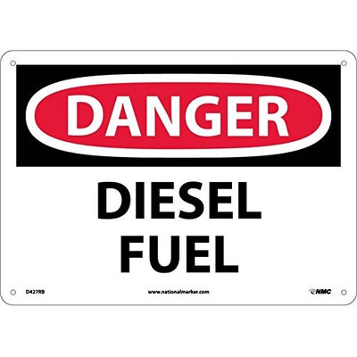 National Marker DANGER, DIESEL FUEL, 10X14, RIGID PLASTIC (Pack of 5)