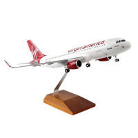 Skymarks Supreme SKR8325 1-100 Virgin America A320 with Gear & Wood Stand