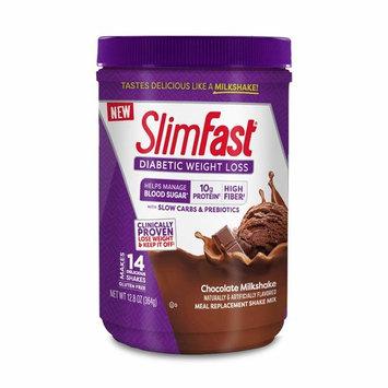 Slimfast Diabetic Weight Loss, Chocolate Milkshake Mix -10g of Protein - 12.8oz [Chocolate]