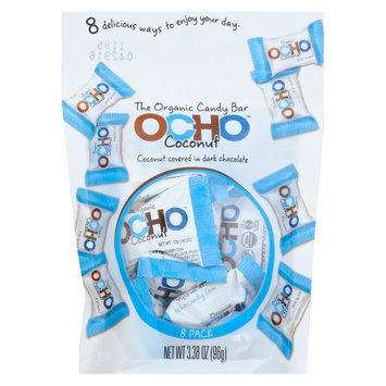 Ocho Candy BAR, OG2, COCONUT, MINI, PCH, (Pack of 12)