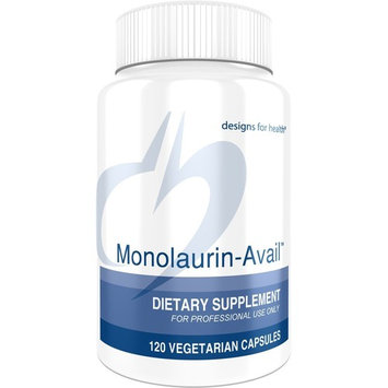 Designs for Health - Monolaurin-Avail - 1000mg Glycerol Monolaurate + Vitamin C Immune Support, 60 Servings