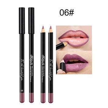 HHei_K Deluxe Ultra Fine Waterproof Lipstick Lip Liner Liquid Natural Long Lasting Matte Lipliner Pencil 12 Color