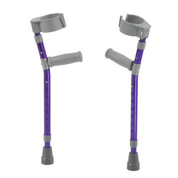 Inspired by Drive Pediatric Forearm Crutches, Medium, Wizard Purple, Pair