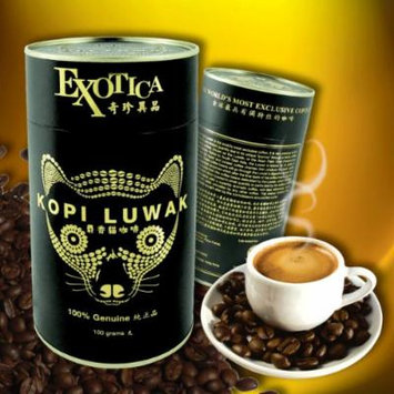 The World's Most Exclusive Coffee, Kopi Luwak Specialty Arabica House Blend Gourmet Coffee Roasted Whole Beans (100g)