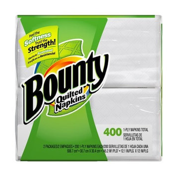 Bounty Quilted Napkins, 400 Napkins