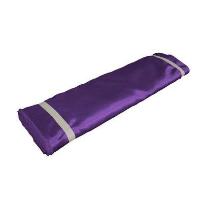 LA Linen BridalBolt-10Yrd-PurpleB23 10 Yards Bridal Satin Flat Fold Purple