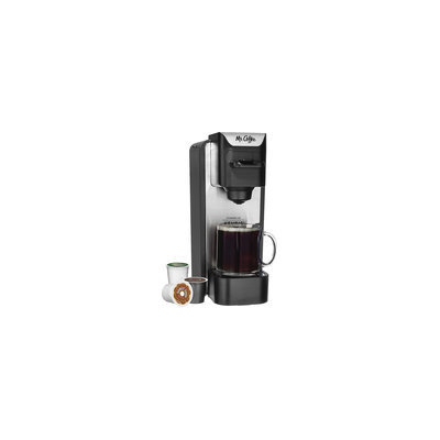 Mr. Coffee - Single-cup Coffeemaker - Silver/black