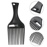 1 Pack Comb Hairbrush Black Resin Anti-static Hair Brush Barber Scalp Massage Combs DIY Salon Styling Tool Combo Pocket Long Round Handle Holder Grand...