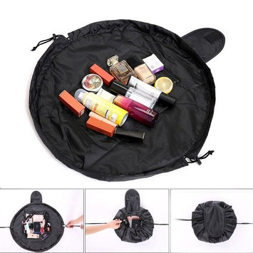Lazy Cosmetic Bag, Maxtour Makeup Toiletry Jewelry Organizer with Zipper and Drawstrings