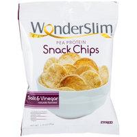WonderSlim Pea Protein Snack Chips (10g) - Salt & Vinegar - Low-Carb Diet Healthy Protein Snack - Gluten-Free, Vegan (10 Bags)