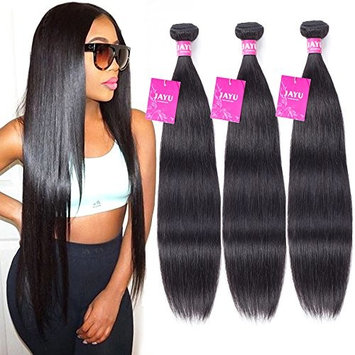 100% Unprocessed Brazilian Straight Virgin Remy Human Hair Extensions 3 Bundle Deals Mixed Length (Natural Color,14 16 18 Inch,100g±5g Each Bundle)…