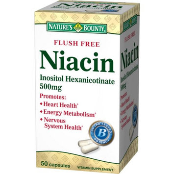 Nature's Bounty Niacin 500 mg Capsules Flush Free 50 ea