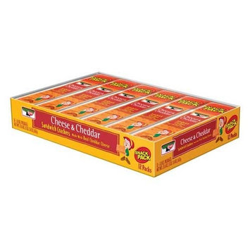 Keebler Sandwich Cheese and Cheddar Sandwich Crackers - 12 count tray, 12 per case