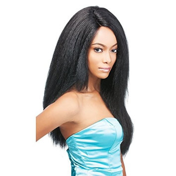 Synthetic Lace Front Wigs For Women Italian Yaki Heat Resistant Kinky Straight Wig