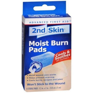 2nd Skin Moist Burn Pads 6 CT (PACK OF 2)