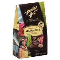 Hawaiian Host Premium Milk Chocolate Covered Macadamias, 4.5 Oz (Pack of 6)