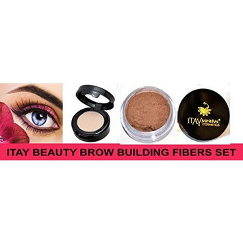 Itay Beauty Brow Building Fibers Set (Fibers+Brow Wax Primer ) (Light Brown) by Itay Beauty