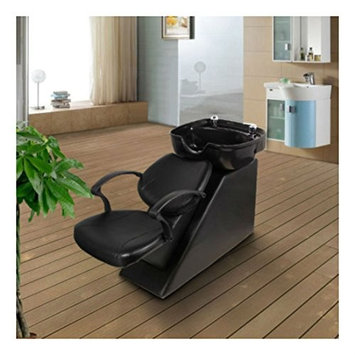 😘Backwash Chair Shampoo Bowl Spa Sink Double Drain Beauty Salon Unit Station😘: Beauty