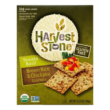 Harvest Stone Crackers, Brown Rice & Chickpea, Tomato Basil, 3.54 Oz