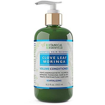 Anti Hair Loss Conditioner Volumizing Clove - Moringa Botanical Organic Conditioner For Hair Thinning Prevention Alopecia DHT Blocking 10.2 Fl Oz