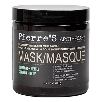 Pierres Mask Illuminating Black Mud Charcoal 6.7 Ounce Jar (198ml)