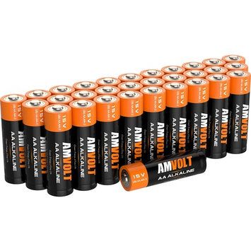 28 Pack AA Batteries [Ultra Power] Premium LR6 Alkaline Battery 1.5 Volt Non Rechargeable Batteries for Watches Clocks Remotes Games Controllers Toys & Electronic Devices - Best Industrial Battery