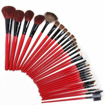 KingMas 30 Pcs Red Professional Makeup Cosmetic Brush Set Kit With Pouch Case