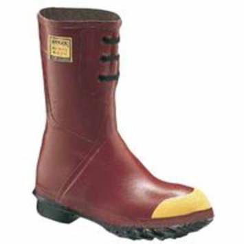 Insulated Steel Toe Boots, Size 11, 12 in H, Rubber, Red, Sold As 1 Pair