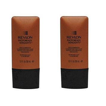 Revlon Photoready Skinlights Face Illuminator ~ Bronze Light 400 (2 Pack) + FREE Travel Toothbrush, Color May Vary