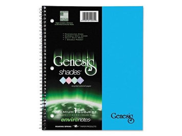 Roaring Spring One-Subject Genesis Shades Notebook, 8 1/2 x 11, College Rule, Blue, 34 Sheets