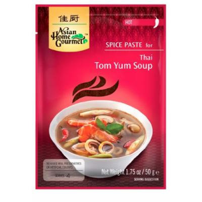 Asian Home Gourmet Thai Tom Yum Soup Mix (Hot), 1.75-Ounce Pouch (Pack of 12)